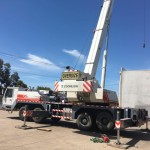 Hugo, our 40 tonne crane